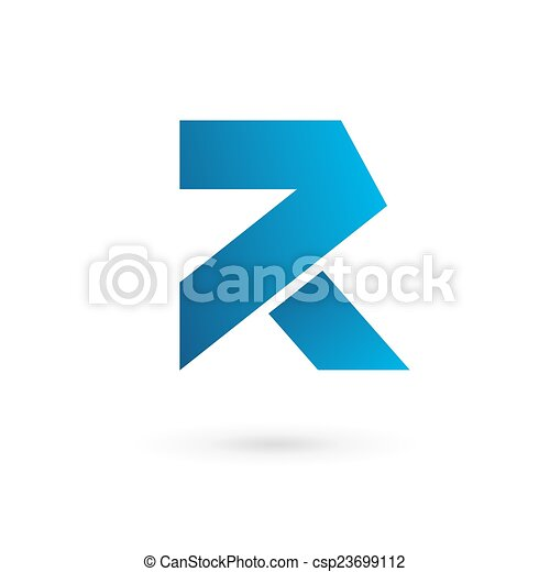 Vector clip art of letter r logo icon design template elements
