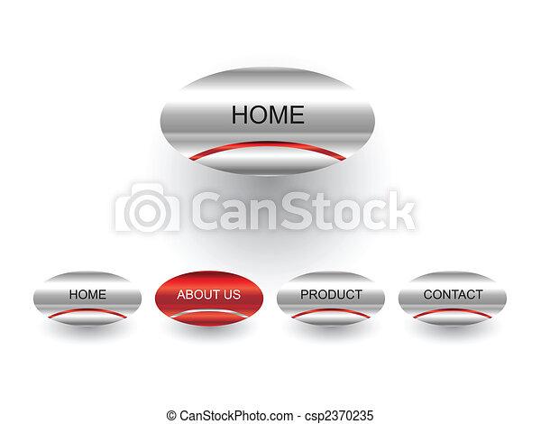 Editable website vector buttons - csp2370235