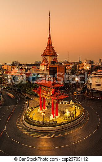 照片 - the, 門戶, 拱, (Odeon, Circle), 寺廟, 界標, Chinatow - 圖片, 免 ...