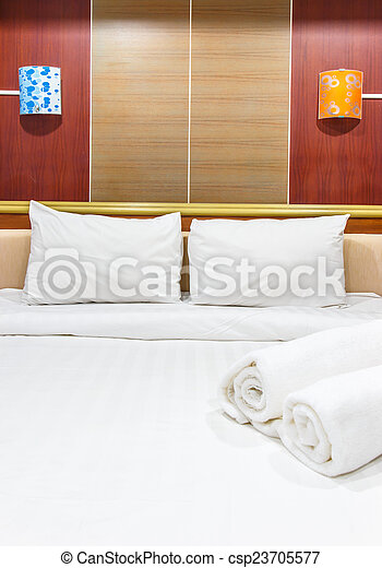 Bed - Towels on the bed