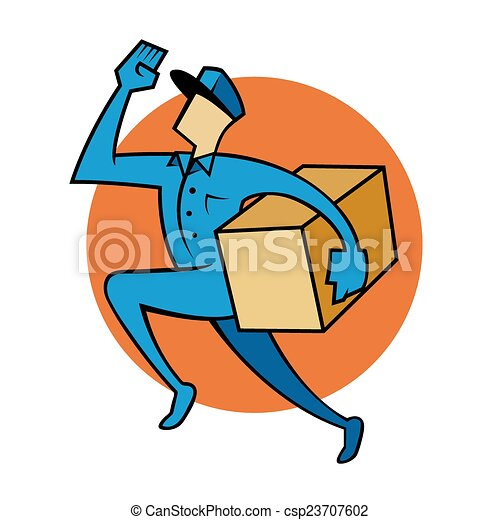 Vector Clipart Of Package Delivery Service Vector