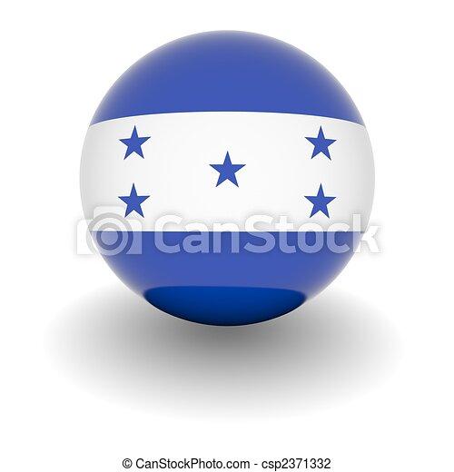 alto, resolución, bandera, pelota, honduras - csp2371332