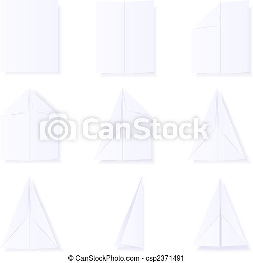 Making a paper plane - csp2371491