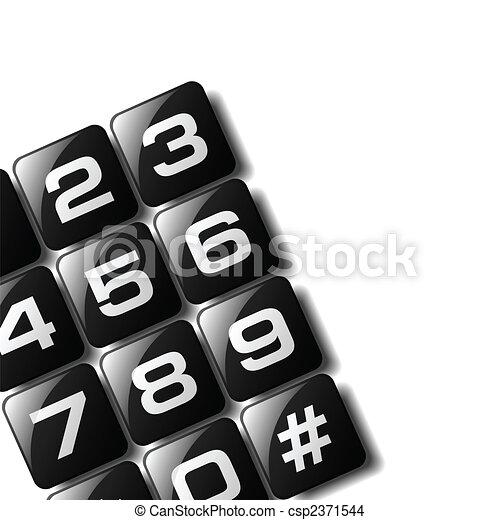 Telephone Keypad - csp2371544
