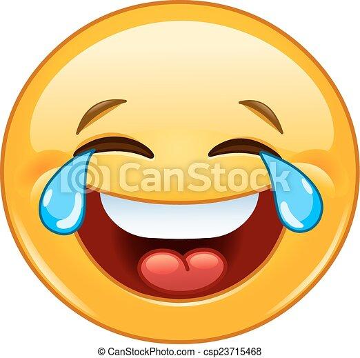 Emoticon with tears of joy - csp23715468