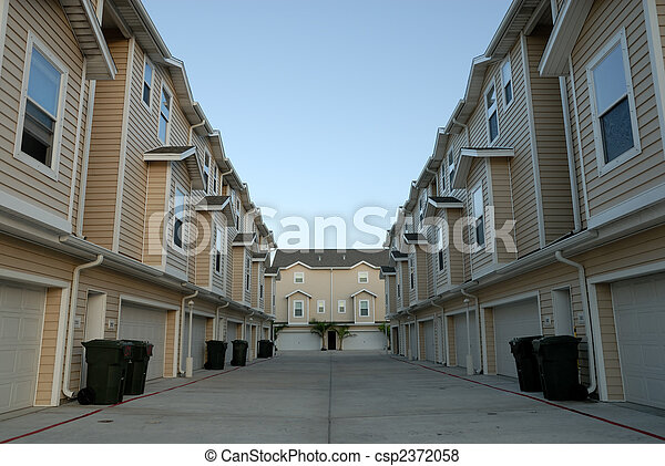 Apartment house in United States of America - csp2372058