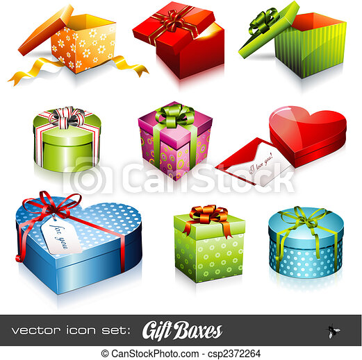 vector set: gift boxes - csp2372264