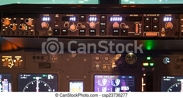 dashboard of an aircraft - csp23736277