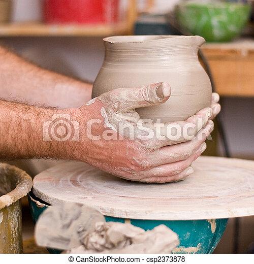 mãos, trabalhando, homem - csp2373878