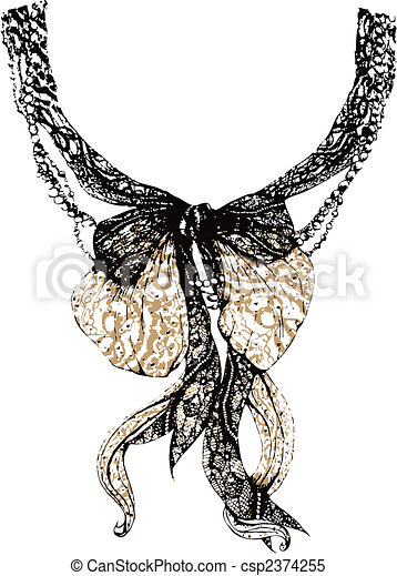 Decorative lace bow - csp2374255