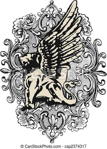 heraldic crest element - csp2374317