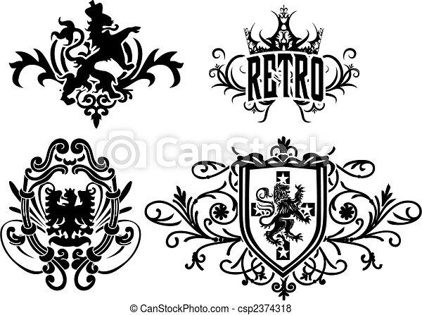 heraldic crest element - csp2374318