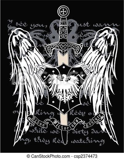 Heraldic Eagle Medieval - csp2374473