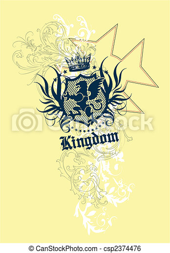 Royalty element crest for your label - csp2374476