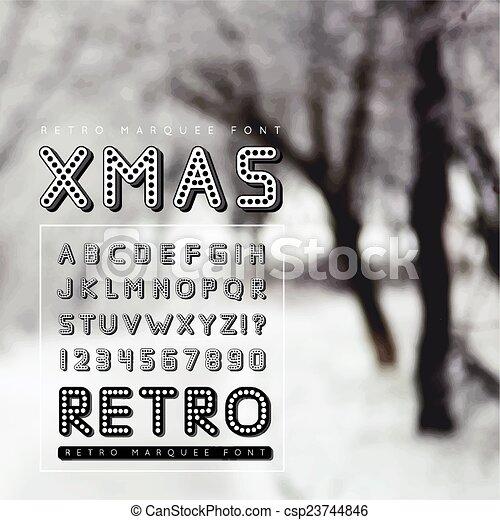Retro marquee font - csp23744846