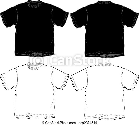 t-shirt outline - csp2374814