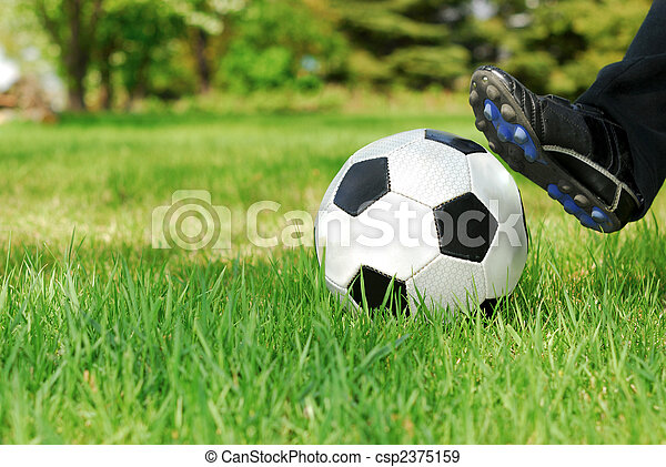 Youth Soccer Kick - csp2375159