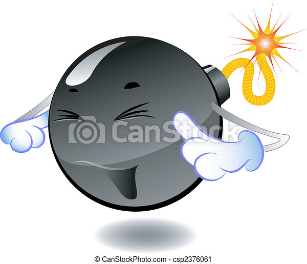 Bomb - series of cartoon bombs - csp2376061