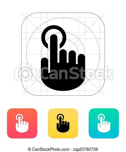 Hand finger id icon. Hand pointer symbol. - csp23760739