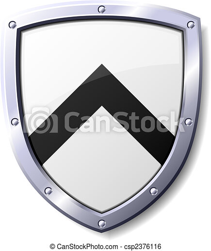 Black and White Shield - csp2376116