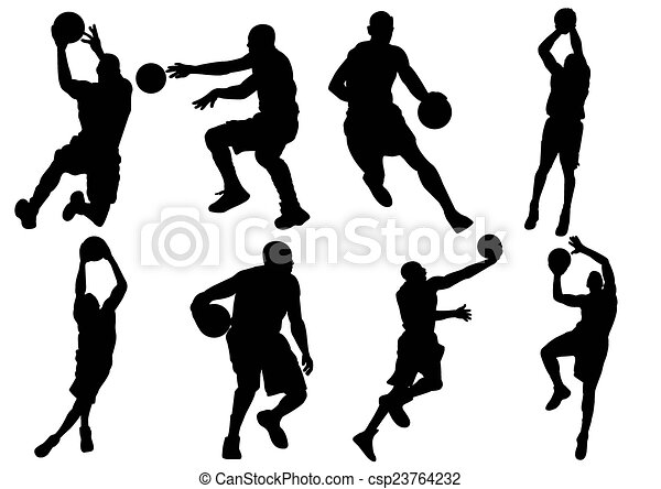 Vectors Of Basketball Player Shadow Silhouette Csp23764232