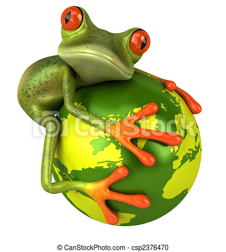 Frog protects the world - csp2376470