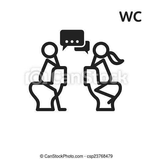 Flirt in the toilet vector sign   csp23768479. Vectors Illustration of Flirt in the toilet vector sign   male and