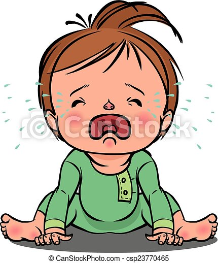 Crying baby Vector Clipart Illustrations. 990 Crying baby clip art ...