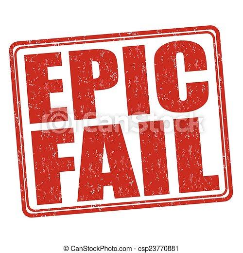 Epic Fail Clipart Epic Fail Stamp Csp23770881