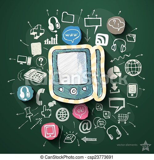 Vektor sozial medien collage heiligenbilder tafel stock