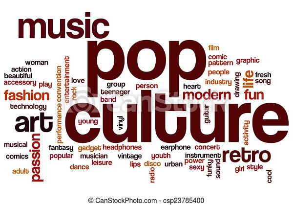 Stock Illustration Of Pop Culture Word Cloud Concept