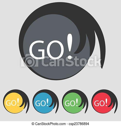 Go Sign Icon GO sign icon