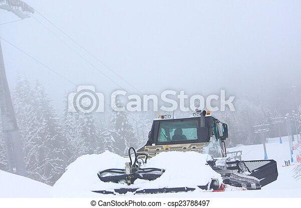 snow-remover in Rosa Khutor ski resort