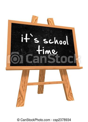 it\'s school time on blackboard - csp2378934