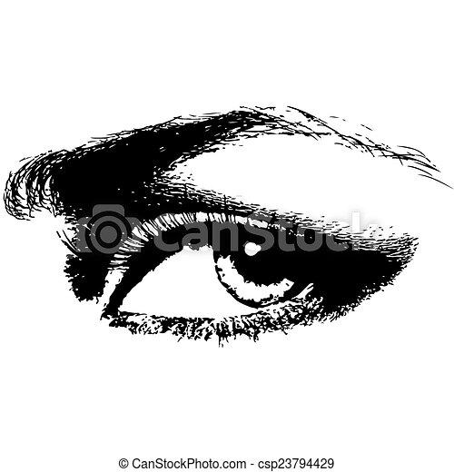 human eye beauty woman vector illustration - csp23794429