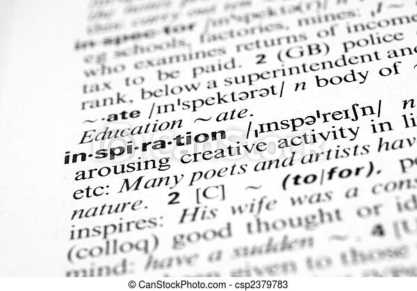 Inspiration - Dictionary definition of business word - csp2379783