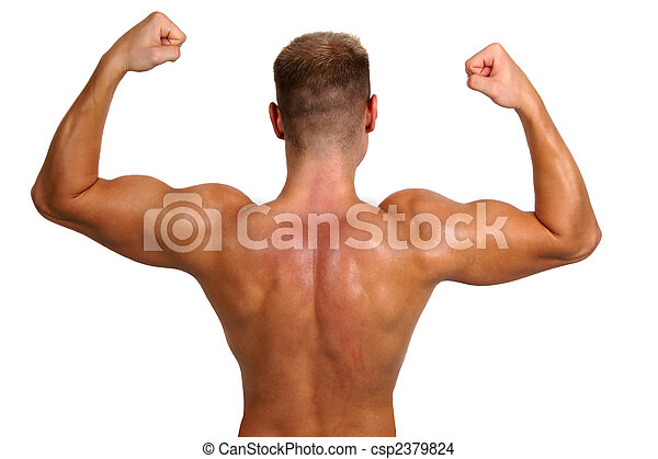 bodybuilder showing his muscles - csp2379824