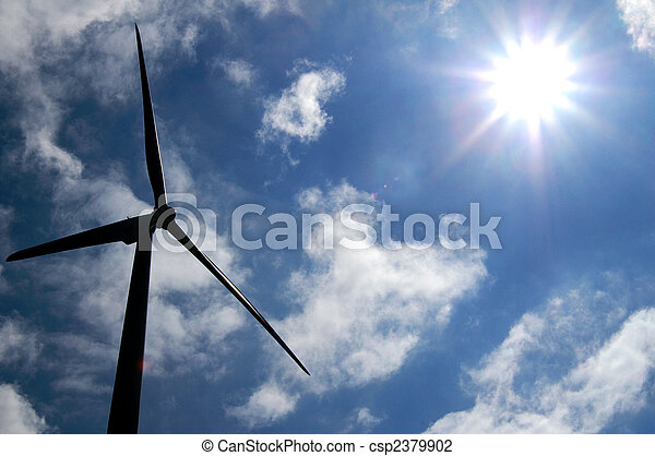 Sun-energy versus wind-energy - csp2379902