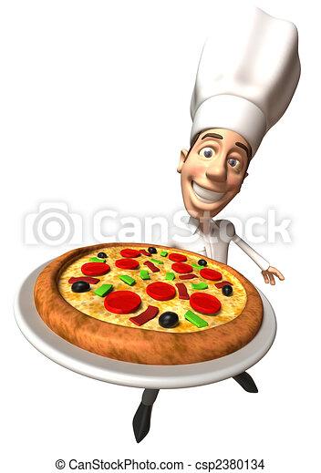 Pizza - csp2380134