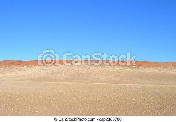 Sand dunes in the Kalahari desert  - csp2380700