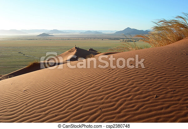 Sand dunes in the Kalahari desert - csp2380748