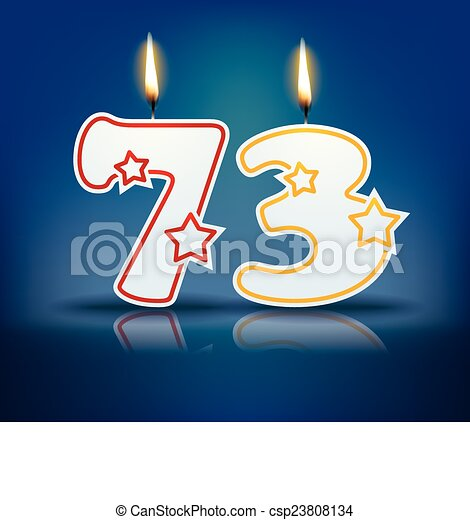 vectors of birthday candle number 73 birthday candle