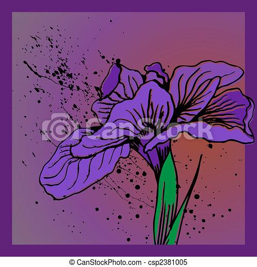 clipart vektor von iris blume spritzen blumen bild csp2381005 suchen sie clipart. Black Bedroom Furniture Sets. Home Design Ideas