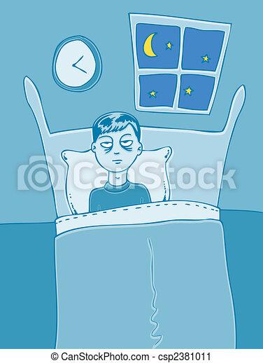 失眠, 卡通, 字