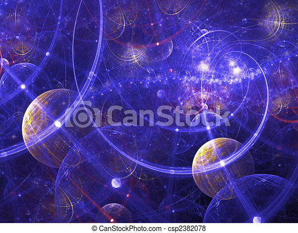 Digitally rendered abstract fractal galaxy image. Good as background or wallpaper. - csp2382078