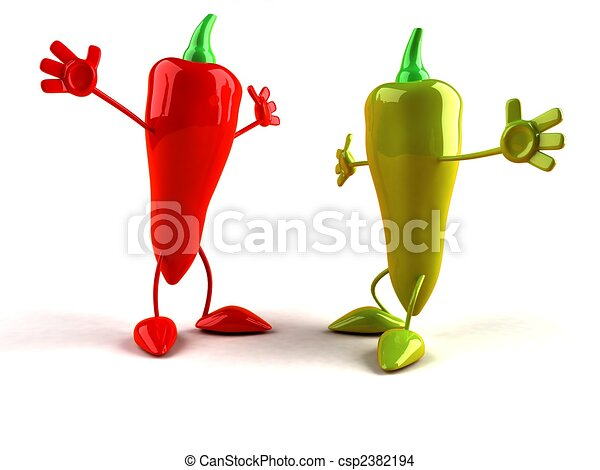 Hot peppers - csp2382194