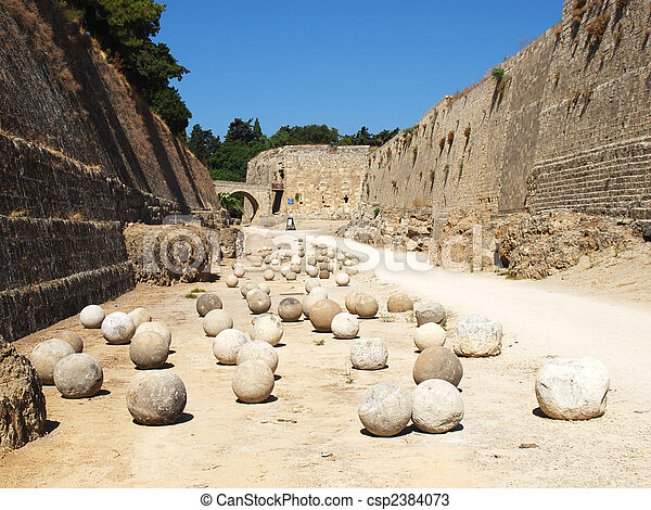 Stone balls - csp2384073