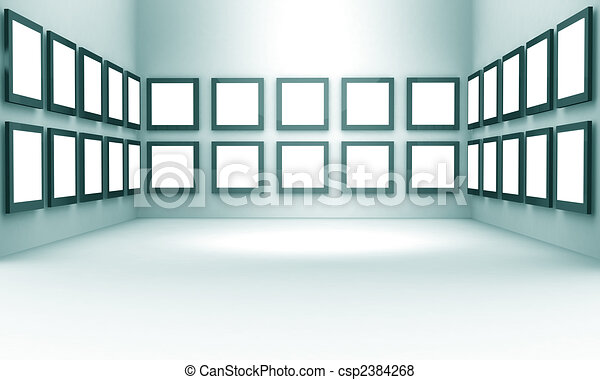 Photo gallery exhibition hall concept - csp2384268