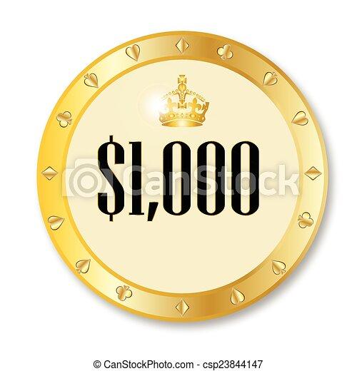 Gambling Chip - csp23844147