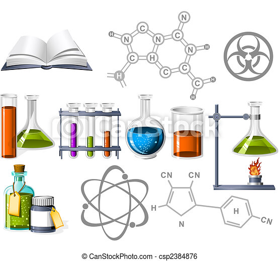 Science and Chemistry Icons - csp2384876